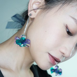 Merilokyuen | Light Blue Single Big Mac Ball Ball Earrings