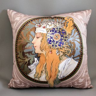 Mucha Byzantium Series - Arc Holy - Mucha Byzantine Blonde Pillow