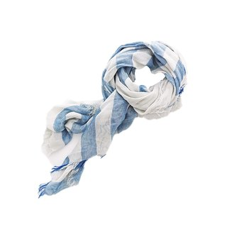 Off White Collagen Scarf - Blue