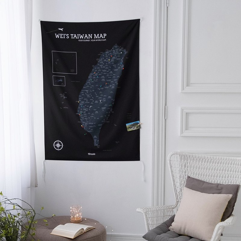 Taiwan map - exclusive Taiwan map (cloth). Black bear black