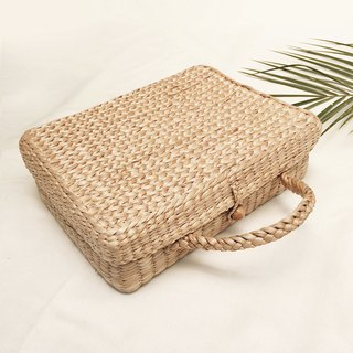 Rectangle Straw Travel bag