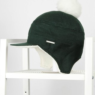 Fluffy christmas bicolor reflective flying wool cap