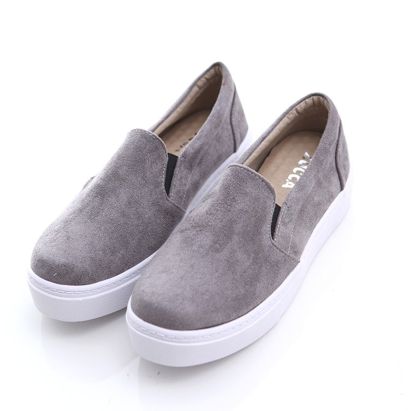 [ZUCCA]-Fleece Cloth Platform Shoes-Gray-z6603gy