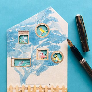 Greeting card/Bird house