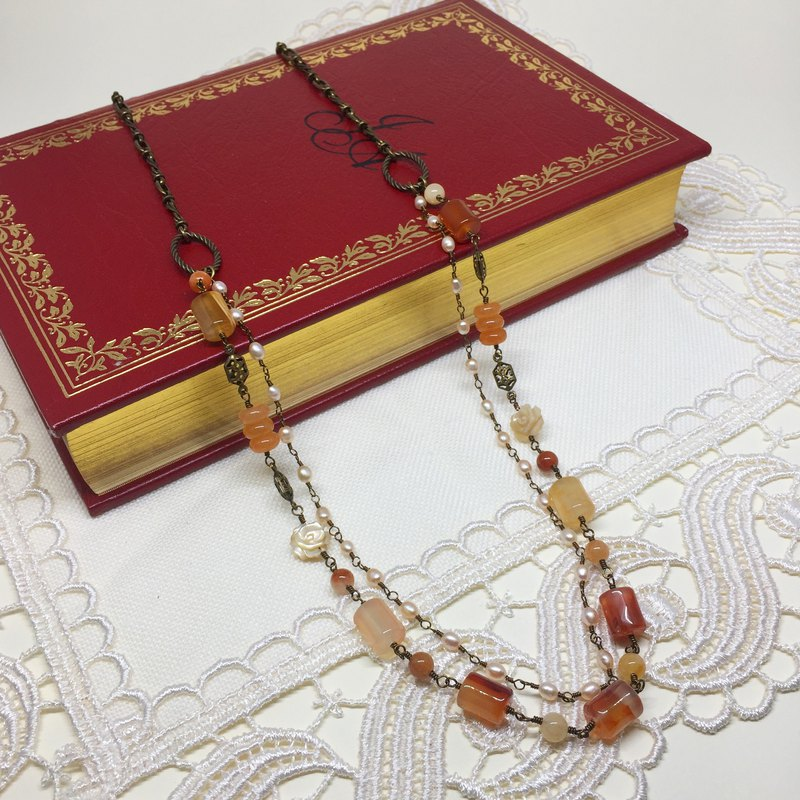 Elegant Carnelian necklace