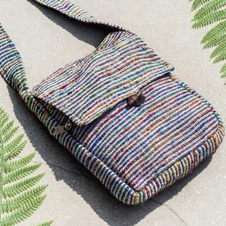 National wind woven bag sari line camera bag phone bag - hand-woven cloth seri rainbow star Galaxy