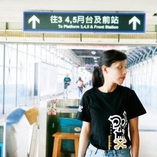 Kaohsiung 骷髅 shape T-black