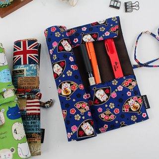 Online shopping limited - roll Pencil / cutlery bag / tool bag / creative pencil case / stationery pouch