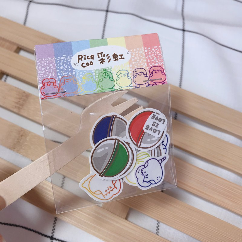 Series stickers - rainbow models