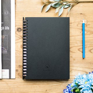 Loose leaf removable A5 notebook – made of blackout paper