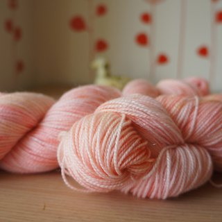 Hand-dyed wire spark Series - sweet peach