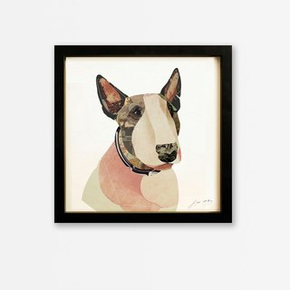 Pink Bull Terrier dimensional decorative painting