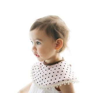 MARLMARL baby bib pocket Dolce sweetheart series (little pink)