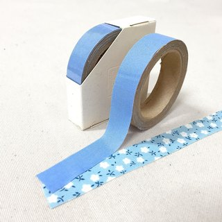 Cloth tape - spring solid color 【French pink blue】