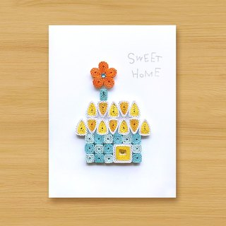 Hand-rolled paper card _ SWEET HOME_C ... mother card, father card