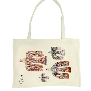Fly me to the moon Tote Bag birds sided Tote