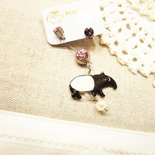 §HUKUROU§ Malay tapir false ear earrings