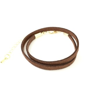 Chocolate - suede roping bracelet (also can be used as a necklace)
