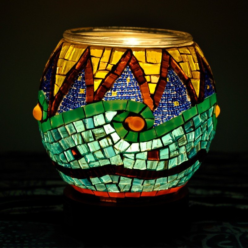 Rebirth/ Original handmade glass mosaic lights/ Art lights/ Romantic gift