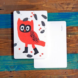 Mumu  Postcard - Red Owl