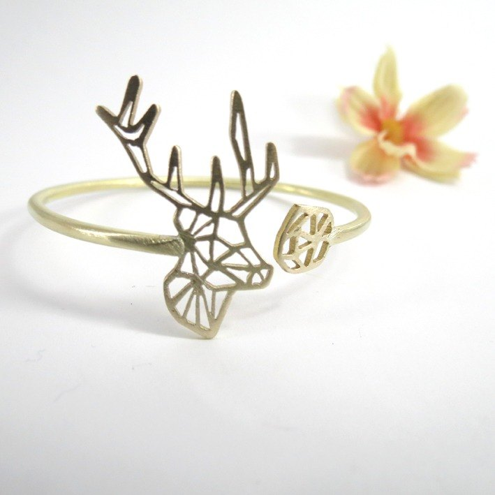Head deer geometric bracelet From WABY