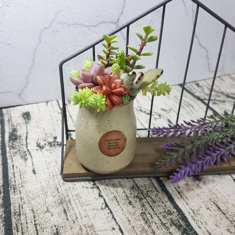 Rustic & vintage milk bottles ( with Succulents )