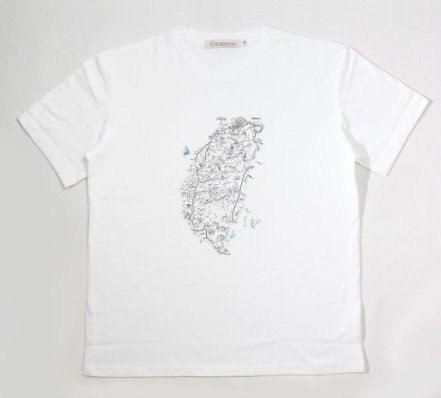 National Museum of Taiwan History - In the case of Taiwan Map T-shirt illustrations (White)