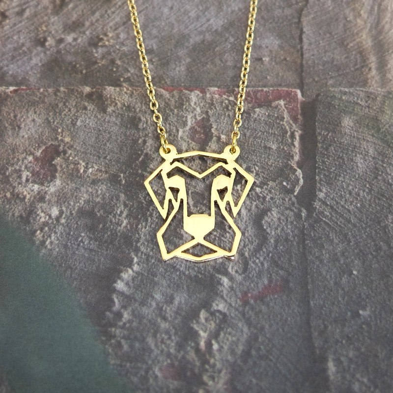 Airedale Terrier, Geometric, Dog Necklace, Pet Necklace, Dog Lover, Dog Gifts