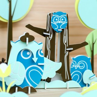 【Educational toys】 Owl family ┇DIY three-dimensional puzzle animal series healing small things