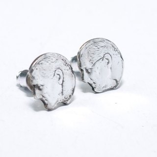 Handmade original dollar silver coin earrings