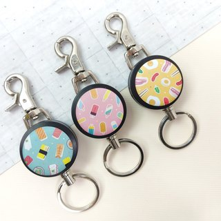 i good slip ring keychain series - good taste Series (three) Popsicle breakfast sushi