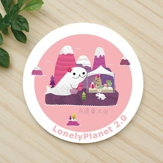 [Christmas / fast arrival] ceramic water coaster - Manatee Mother visiting the fair