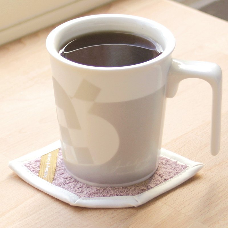 [desk essential] Danish snow heart - kiss mug + cotton absorbent coaster gift box / can be stamped