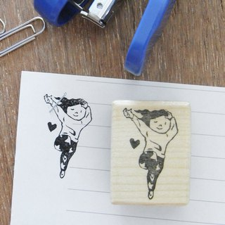 "Handmade rubber stamp for stapler ""Sexy girl"""