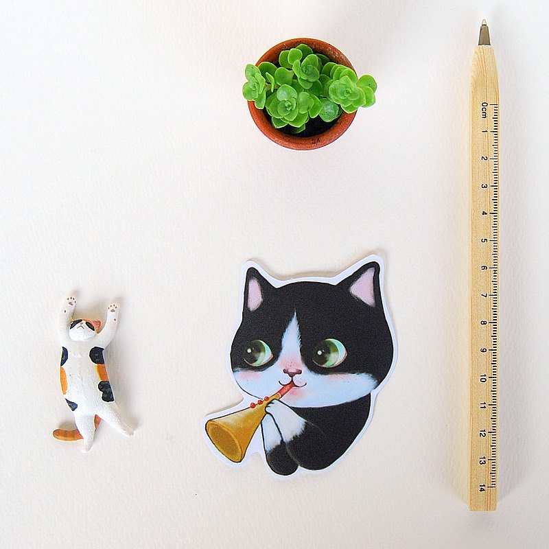 Fish cat / waterproof sticker / pair pair ~ ~