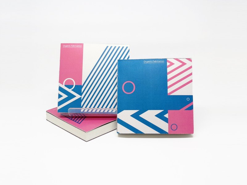· · · Optical build weave stitch pocket notebook (light blue section)