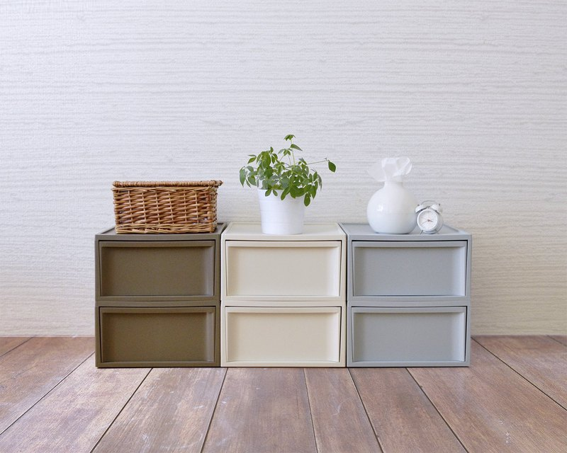 Japan RISU Nordic wind stacking drawers (large version) M four colors optional