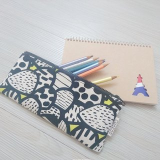 Pencil case stationery cotton linen pen bag tool bag storage bag mushroom