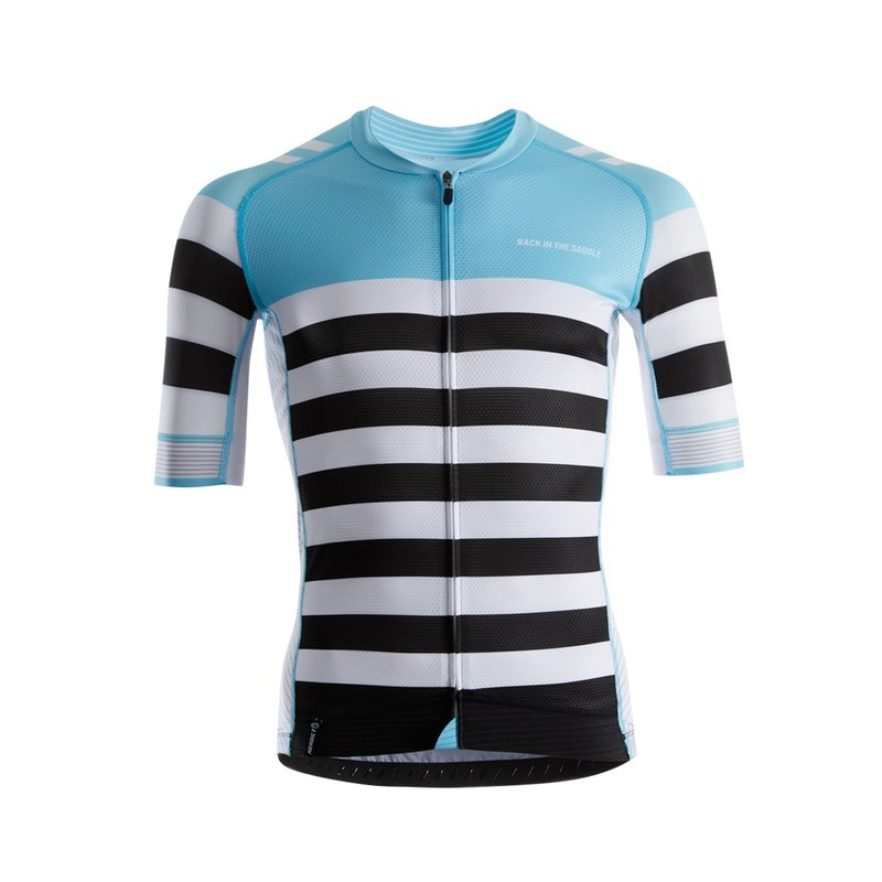 Classic Stripes Jersey - paradise blue / black white - men