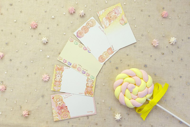 Message Card-Meringue Bunny(5style 15 pics in pack)