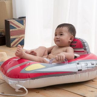 Japan IGARASHI JR Shinkansen infant stereo seat - handsome red water inflatable mount / riding / floating row / mattress / swimming ring / floating boat