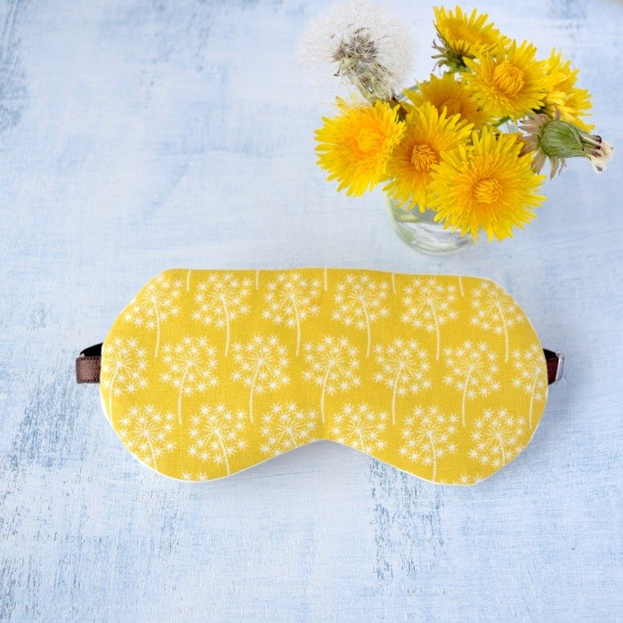 Dandelion Yellow eye mask/with a free bag/trip/sleep mask/spring