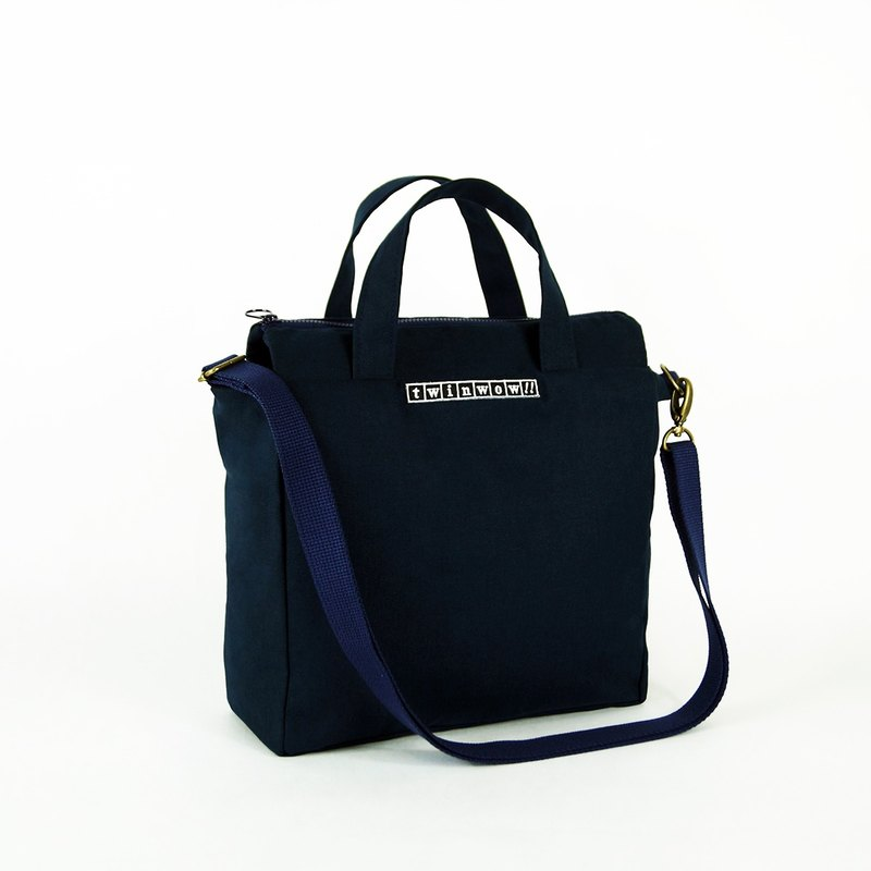 Fashionable Items - Fine Textured Handheld / Side Backpack - Dark Blue