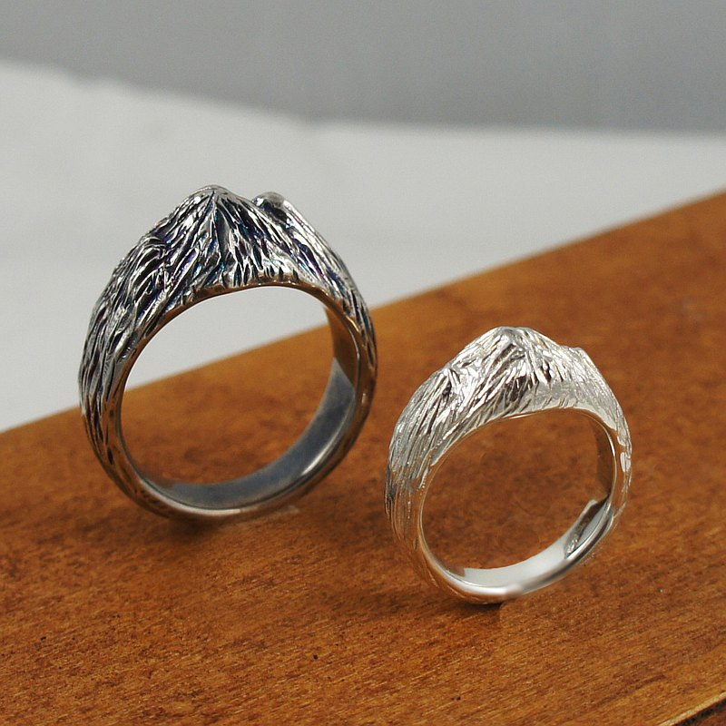 [If sub] Taiwan snow mountain sterling silver ring original hand-made