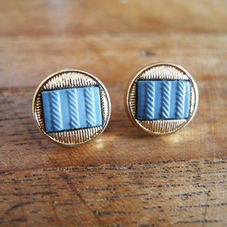 Time Travel【vintage handmade earrings:Blue data】