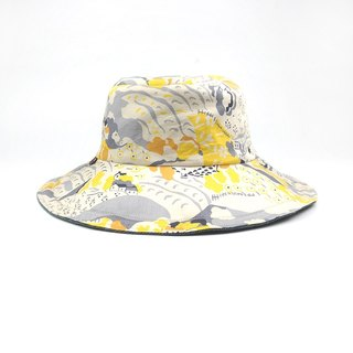 Calf Village Calf Village handmade double-sided hat men and women fisherman hat custom cute village illustrator housing {cool autumn country} [H-422]