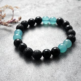 Natural Stone Bracelet - Adventure Blue Diary (Accessories/Gifts/Black Onyx/Volcanic Rock)