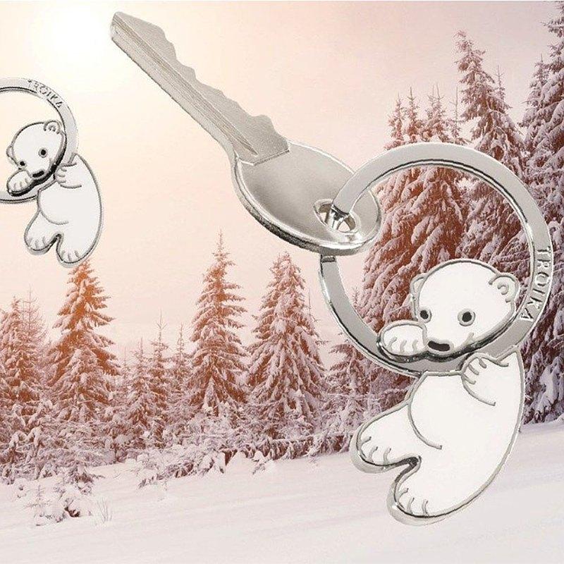【客製化雷射刻印】北極熊寶寶鑰匙圈