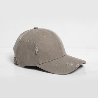 Broken style baseball cap khaki gray:: can be customized::