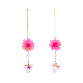 Pamycarie ZINNIA Mermaid Gold-plated 925 Silver Ear Chains